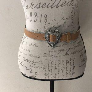 Omega Western/Cowgirl Heart Leather Belt Sz M